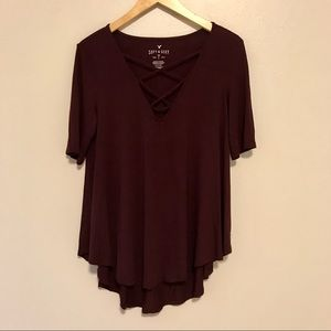 American Eagle Soft & Sexy T Strappy V-Neck Tee